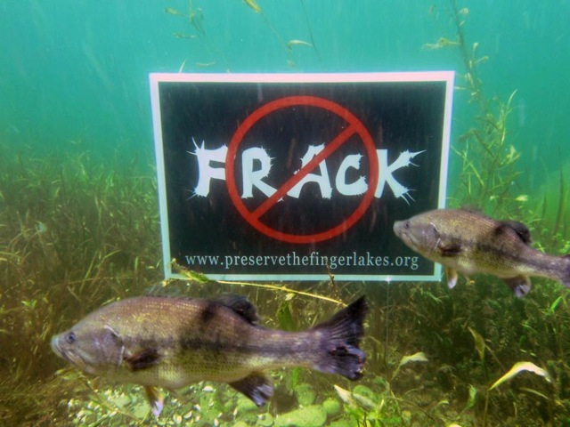 Don't frack with our lakes!